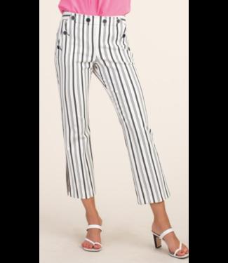 trina turk Black White Stripe Crop Pant- size 0
