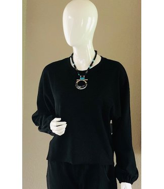 sundays Black dolman top
