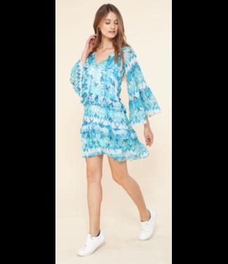 hale Bob Turquoise blouson dress