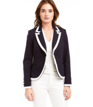 Drew Navy-White Trim Blazer