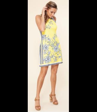 hale Bob Yellow jersey sleeveless dress