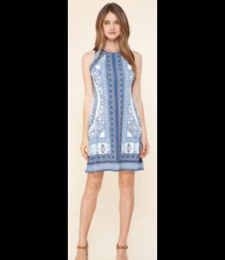 hale Bob Blue print jersey dress