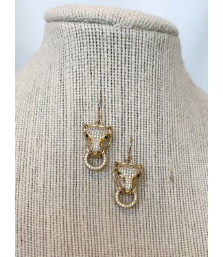 vanessa mooney Pave' rhinestone cat earring
