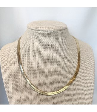 vanessa mooney Thin serpentine gold necklace