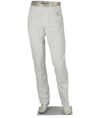 alberto Slim fit white denim
