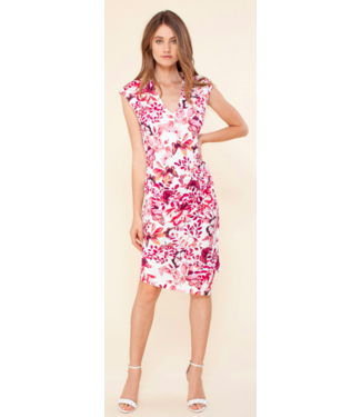 hale Bob Raspberry faux wrap dress