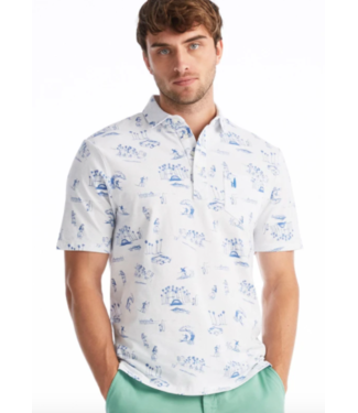 Johnnie-0 Surfing print polo