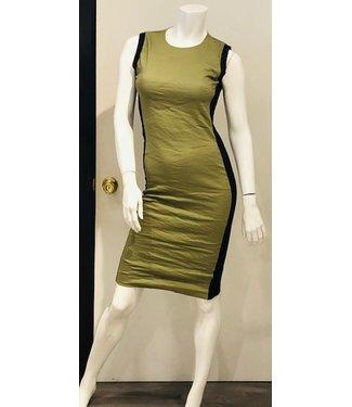 nicole miller Khaki metal sheath dress
