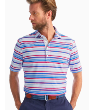 Johnnie O Multi Striped Pique Polo