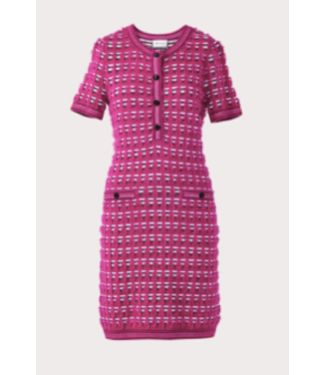 Milly Tweed fitted knit dress