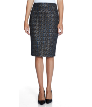 Up Multi color ponte pencil skirt
