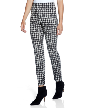 Up Houndstooth slit ankle pant