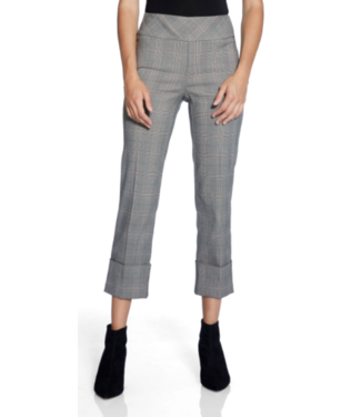 Up Glen plaid crop pant with cuff