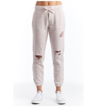 Stonefield Heather pink distressed sweatpant