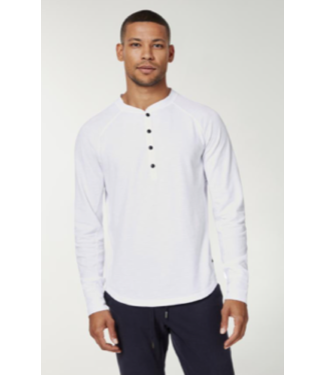 good man 100% cotton white henley