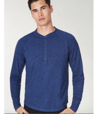 good man 100% cotton blue henley