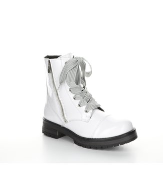 Bos & Co White patent short boot (waterproof)