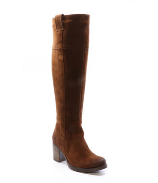 Bos & Co Tobacco suede over the knee boot (waterproof)