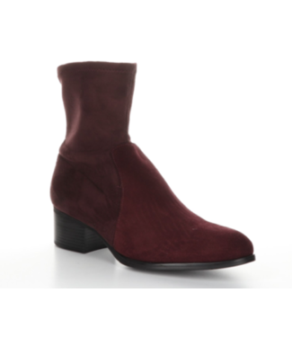 Bos & Co Merlot suede short bootie (waterproof)