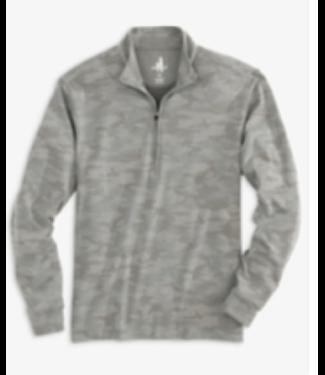 Johnnie O Rodney grey camo 1/4 zip pullover
