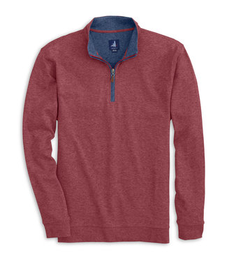 Johnnie O Sully cranberry 1/4 zip