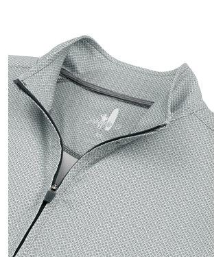 Johnnie O Marlon small print 1/4 zip pullover