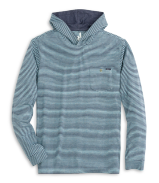 Johnnie O Grimes blue striped hoodie
