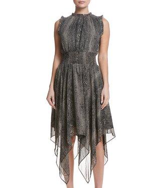 sen Black snake assymetrical dress
