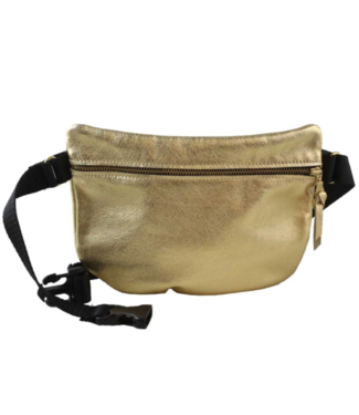 Leather curved fannypak