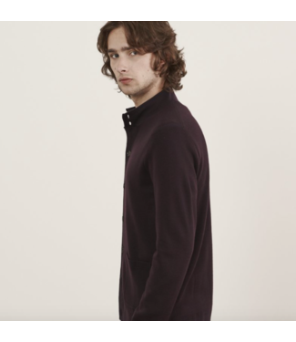 patrick assaraf Merlot button cardigan