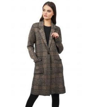 Love Token Camel black long coat