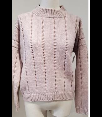 Maison Montagut Blush Crop Sweater