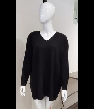 Maison Montagut Black Cashmere Tunic w/ Pockets