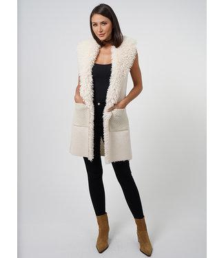 Love Token Winter White Fluffy Vest