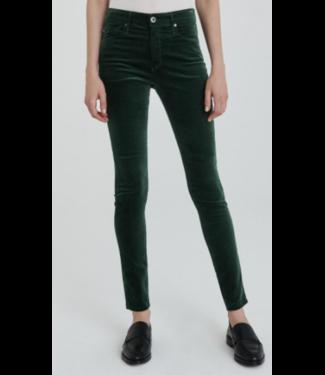 Skinny Green Velvet Stretch
