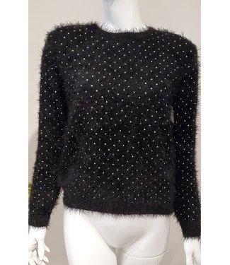 sen Fuzzy black and metal sweater