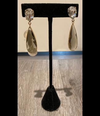 Theia Large Pear Stone Drop Earring