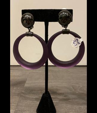 alexis bittar Lucite Clip Earrings
