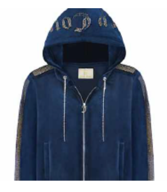 Juicy Couture Juicy Blue  Velour Hoodie