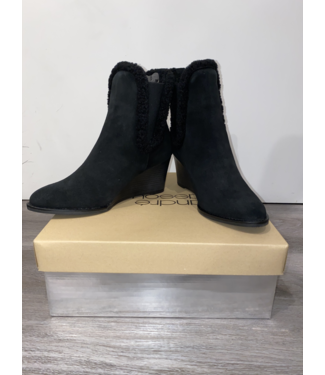 andre assous Black Suede Wedge
