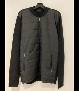 codice Black Knit-Nylon Jacket