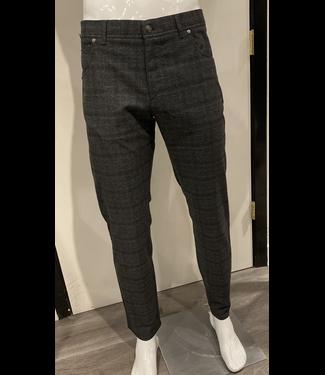 alberto Grey Glen Plaid Flannel Pant