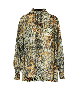Dream Catcher Tiger Long Sleeve Blouse