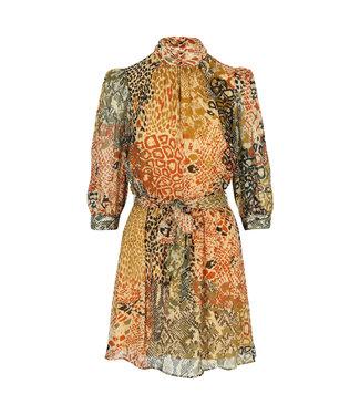 Dream Catcher Autumn Colored Mock Neck Dress