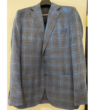 Blue/Tobacco Glen Plaid Sports Coat