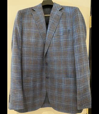Blue/Tobacco Glen Plaid Sports Coat