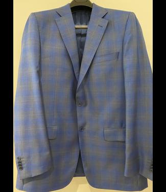 Brilliant Blue and Grey Glen Plaid Sport Coat