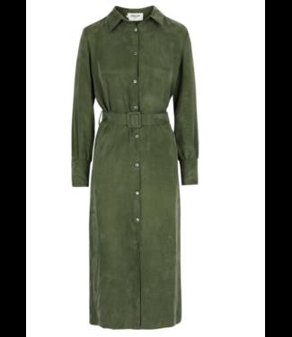 Dream Catcher Dream Olive Ultra Suede Lng Dress w/belt Size 40