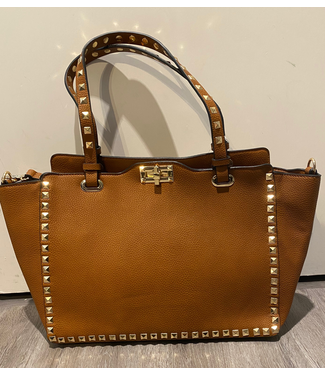 High Studded Handbag