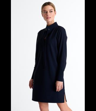 Shan Navy long sleeve dress